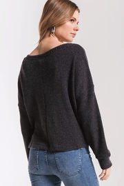 z supply Tie-Front Waffle Thermal - Side cropped