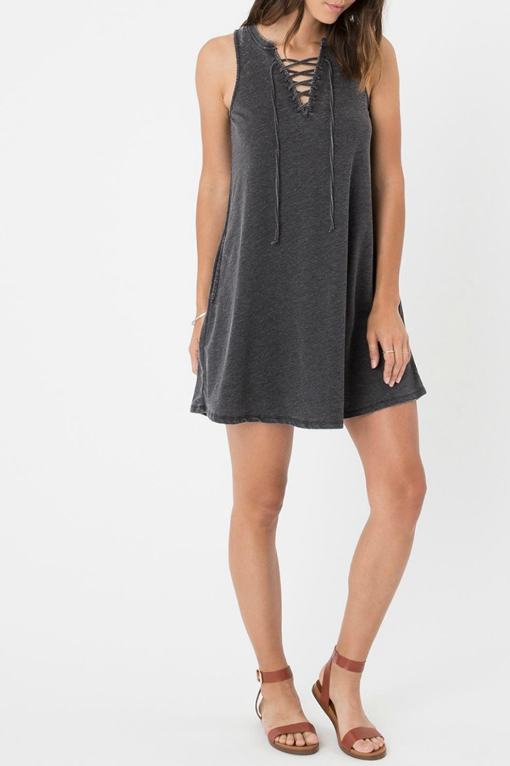 z supply Lace-Up Mini Dress - Front Full Image