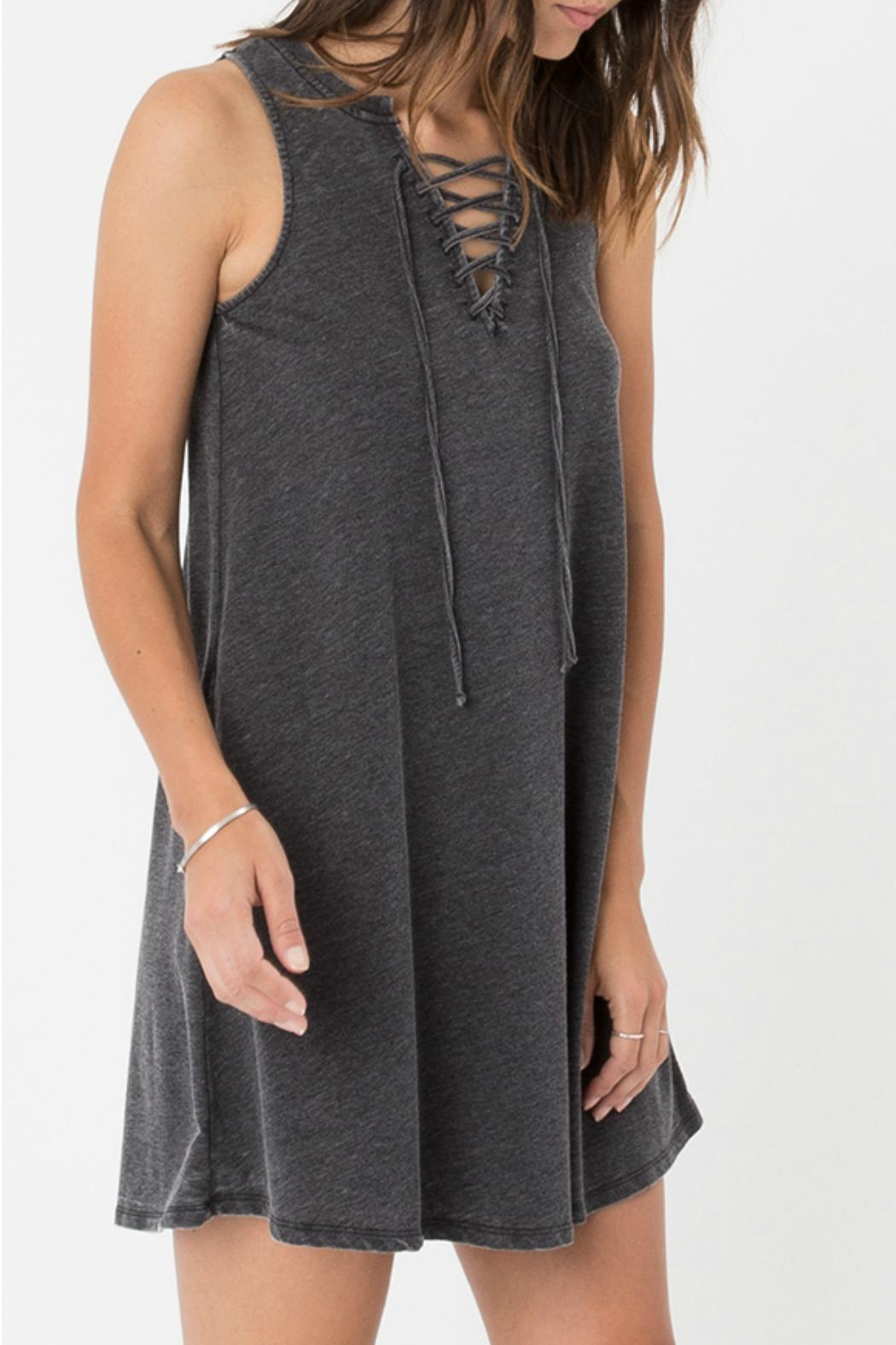 z supply Lace-Up Mini Dress - Side Cropped Image
