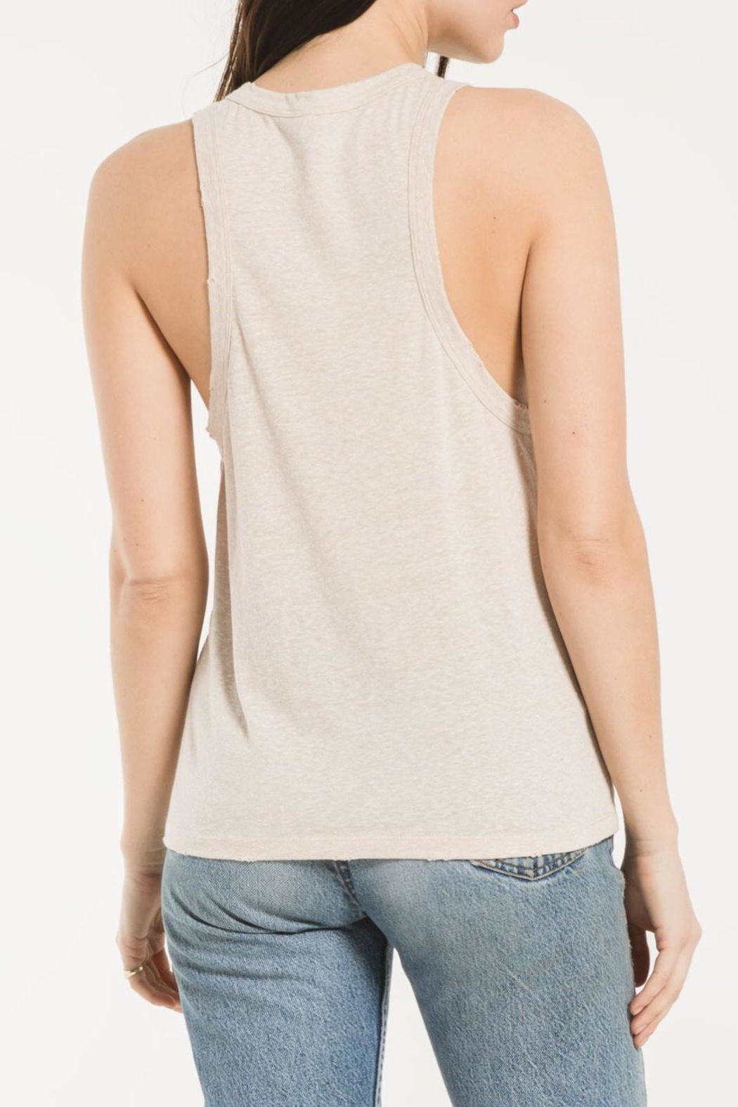 z supply Triblend Race Tank - Back Cropped Image