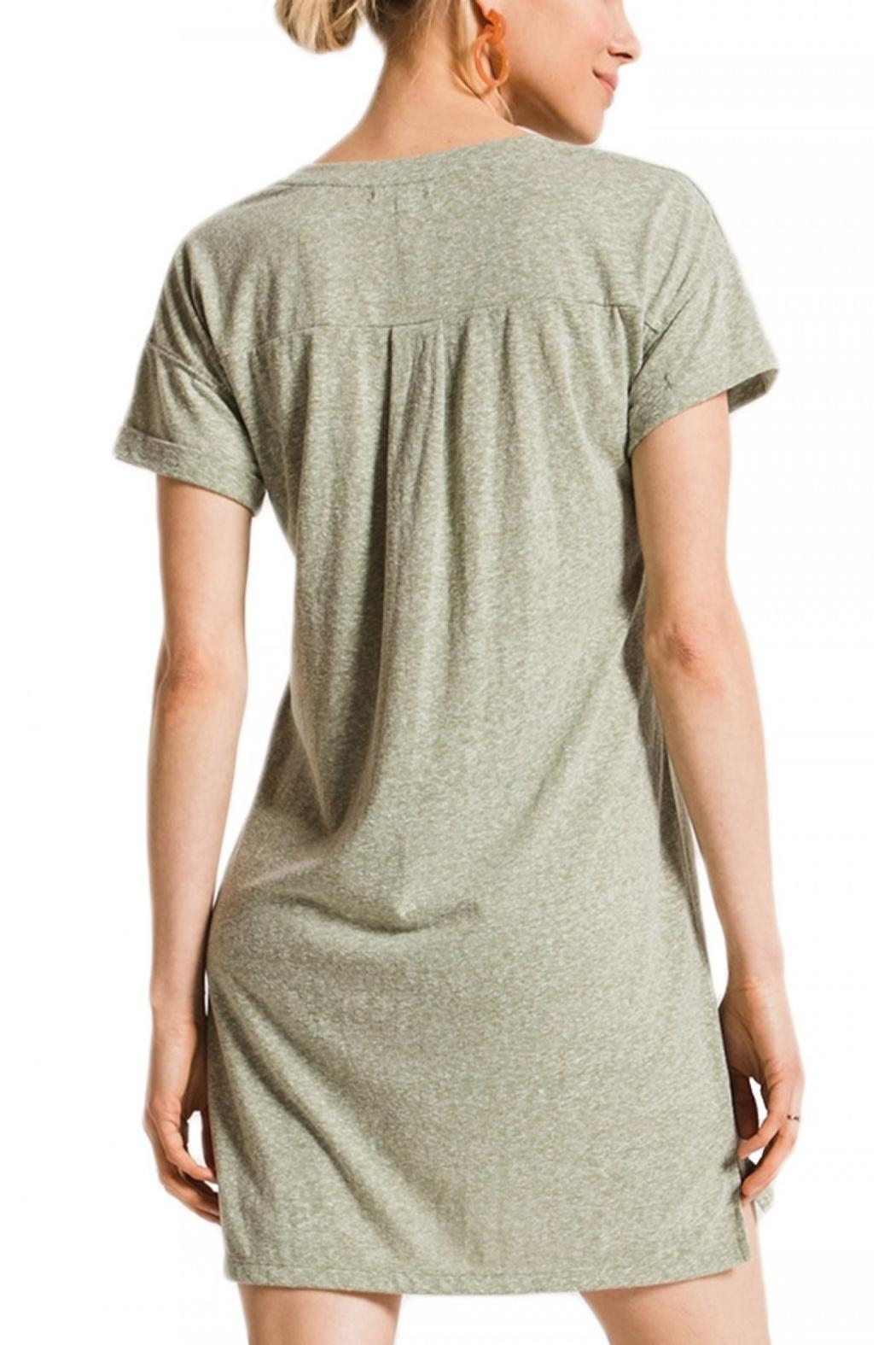 z supply Triblend T Shirt Dress - Front Full Image