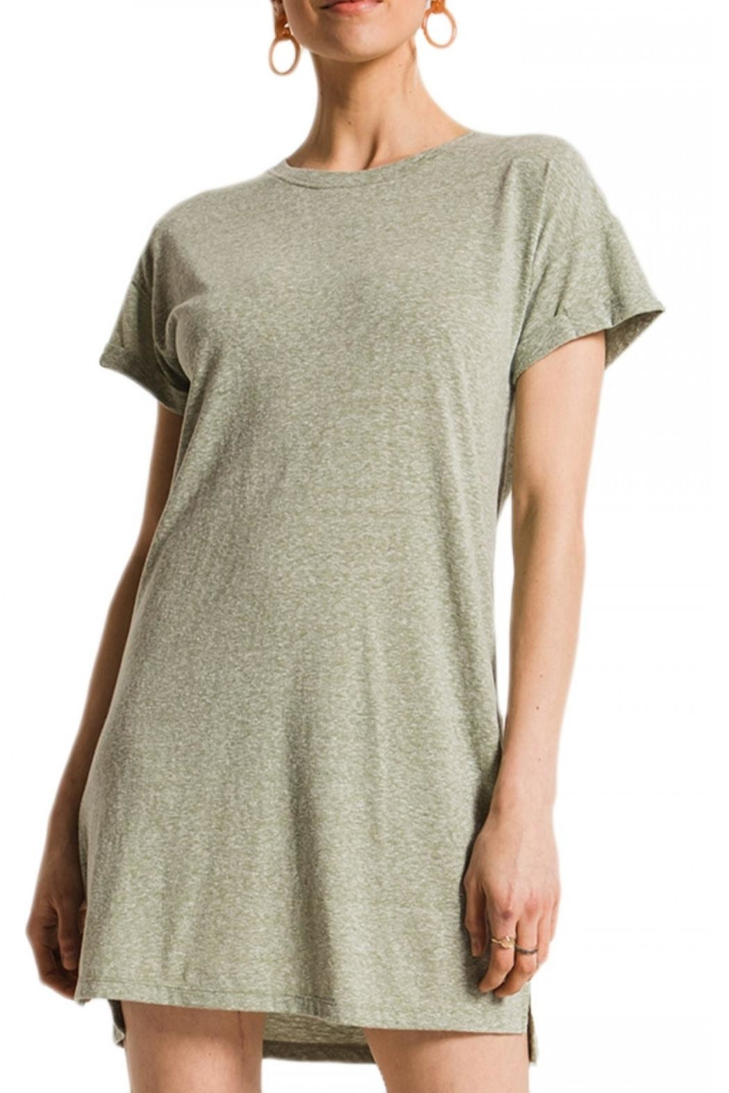 z supply Triblend T Shirt Dress - Side Cropped Image