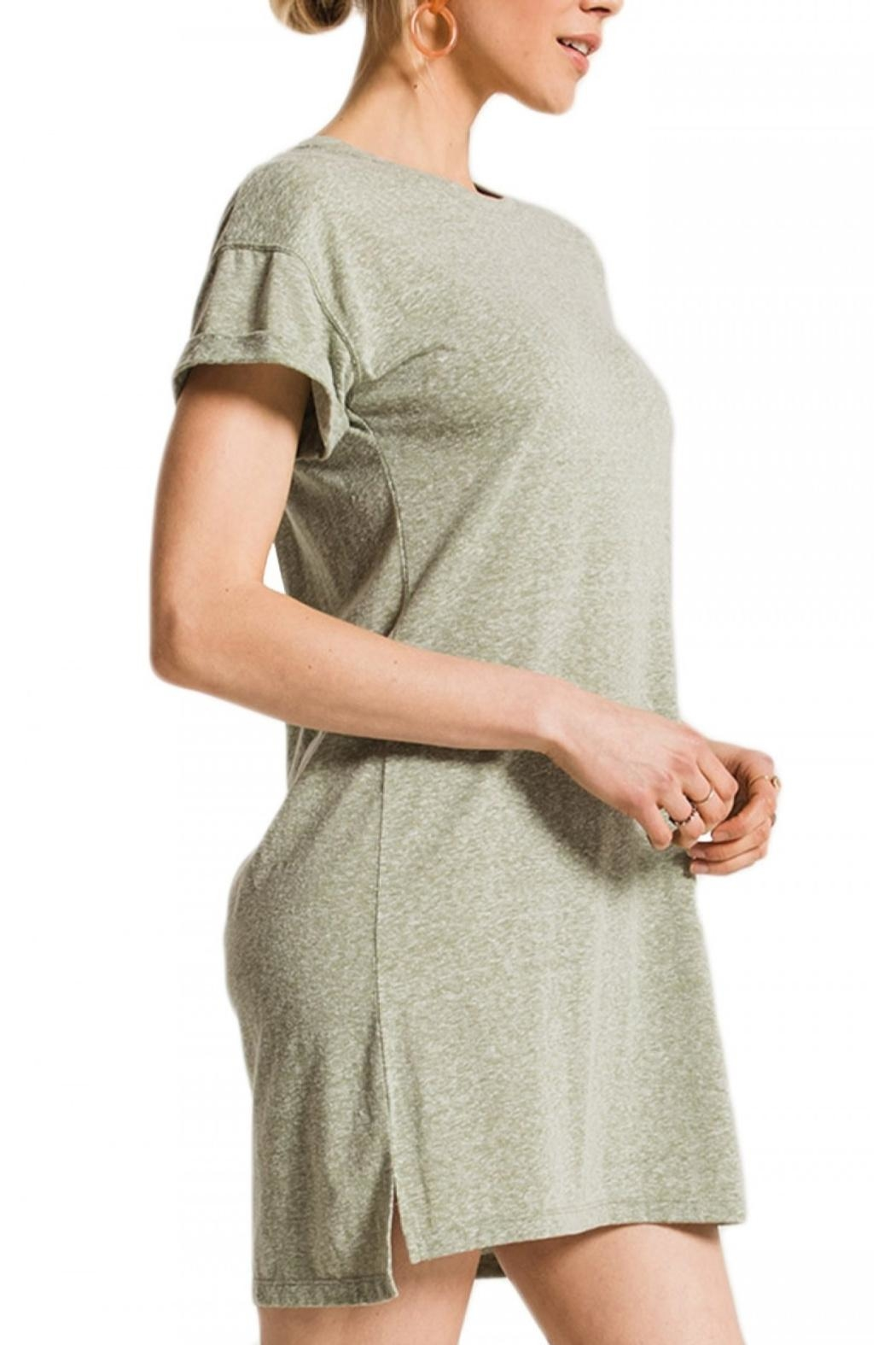 z supply Triblend T Shirt Dress - Front Cropped Image