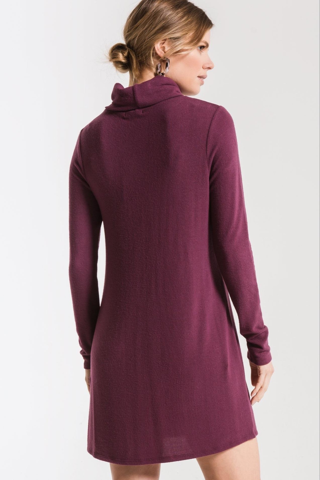 z supply Turtleneck Sweater Dress - Back Cropped Image