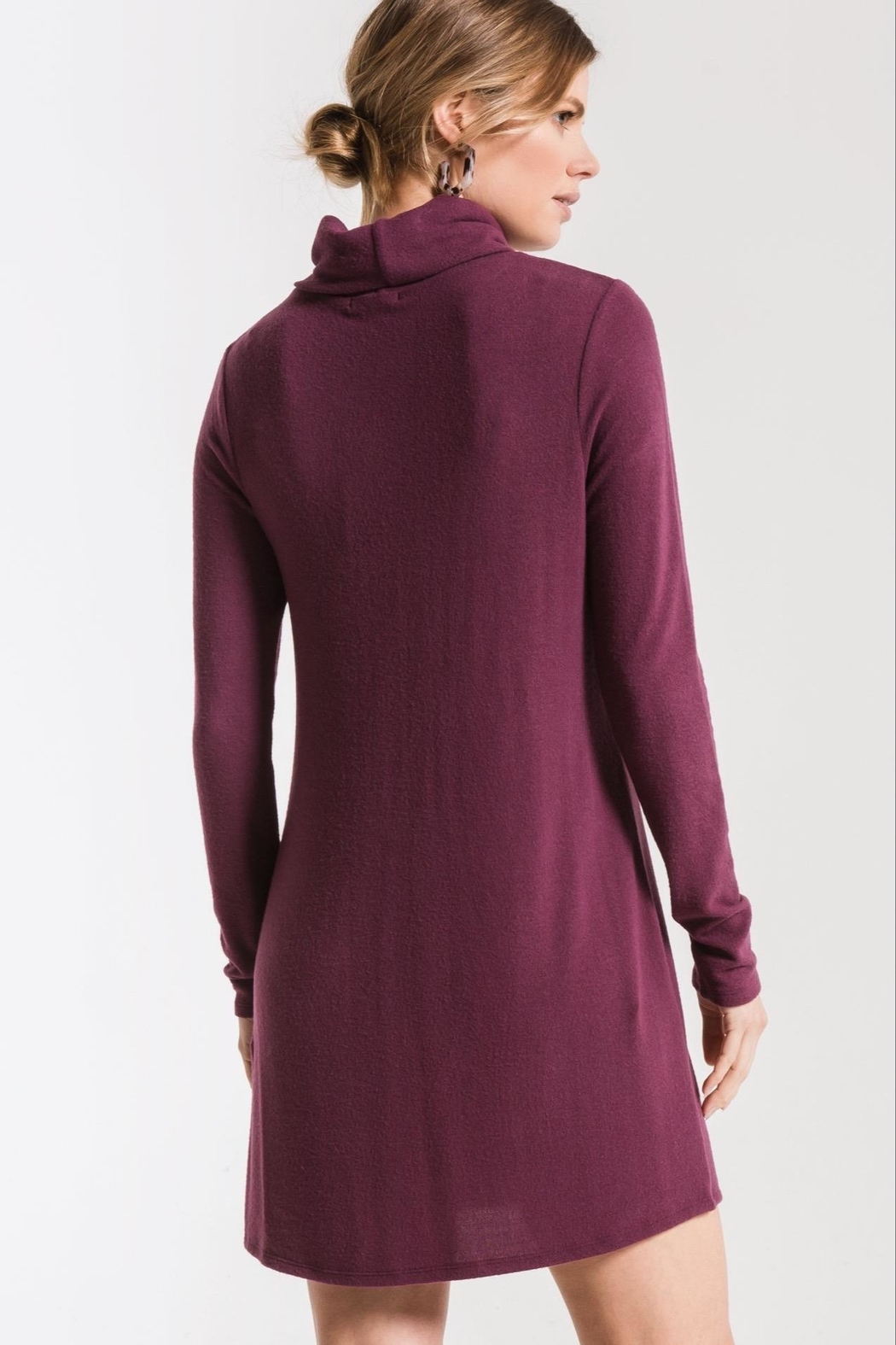 z supply Turtleneck Sweater Dress - Side Cropped Image