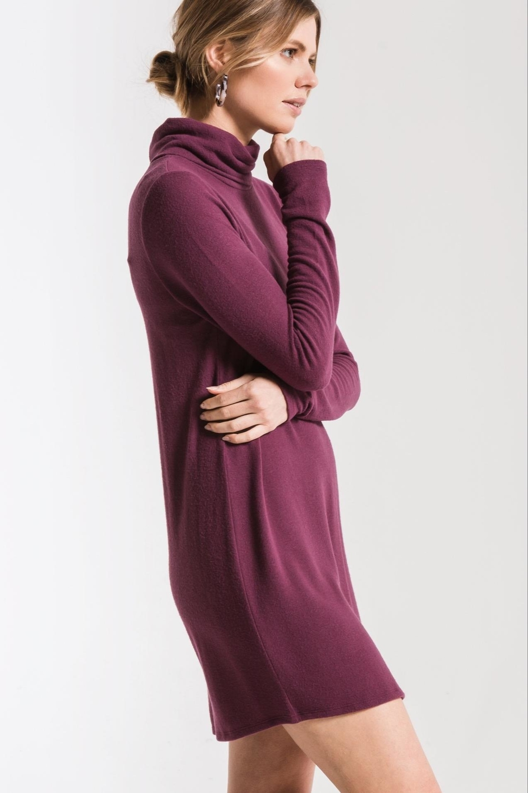 z supply Turtleneck Sweater Dress - Front Full Image