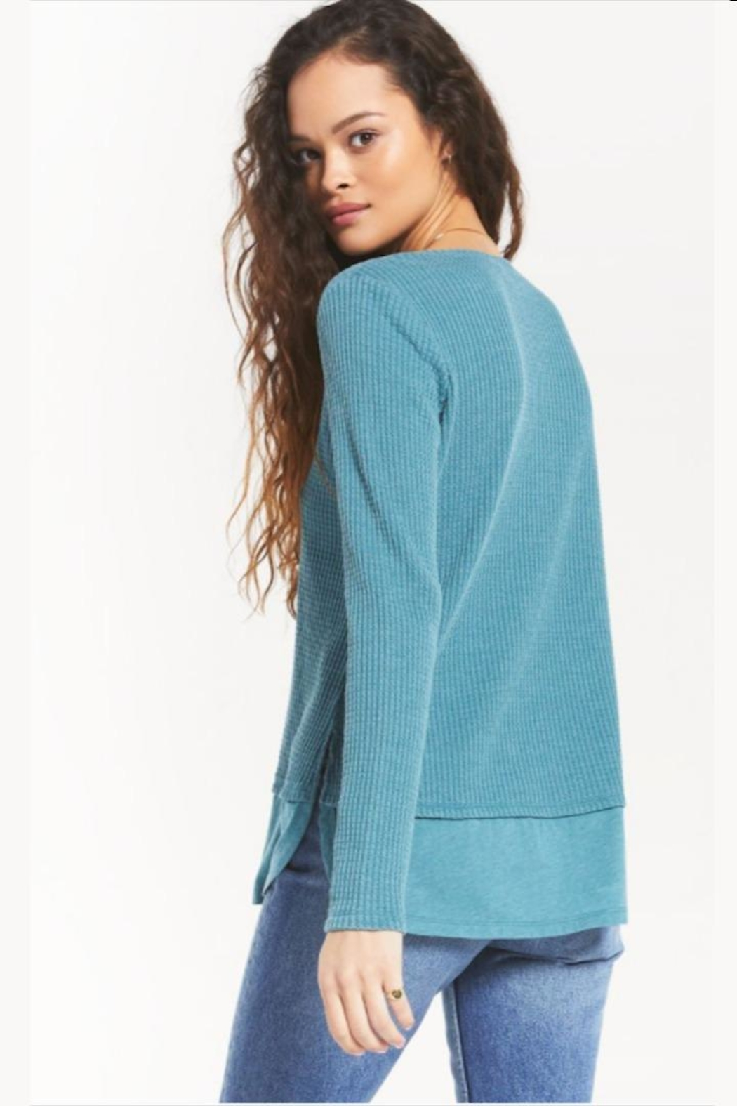 z supply V-Neck Thermal Tunic - Front Full Image