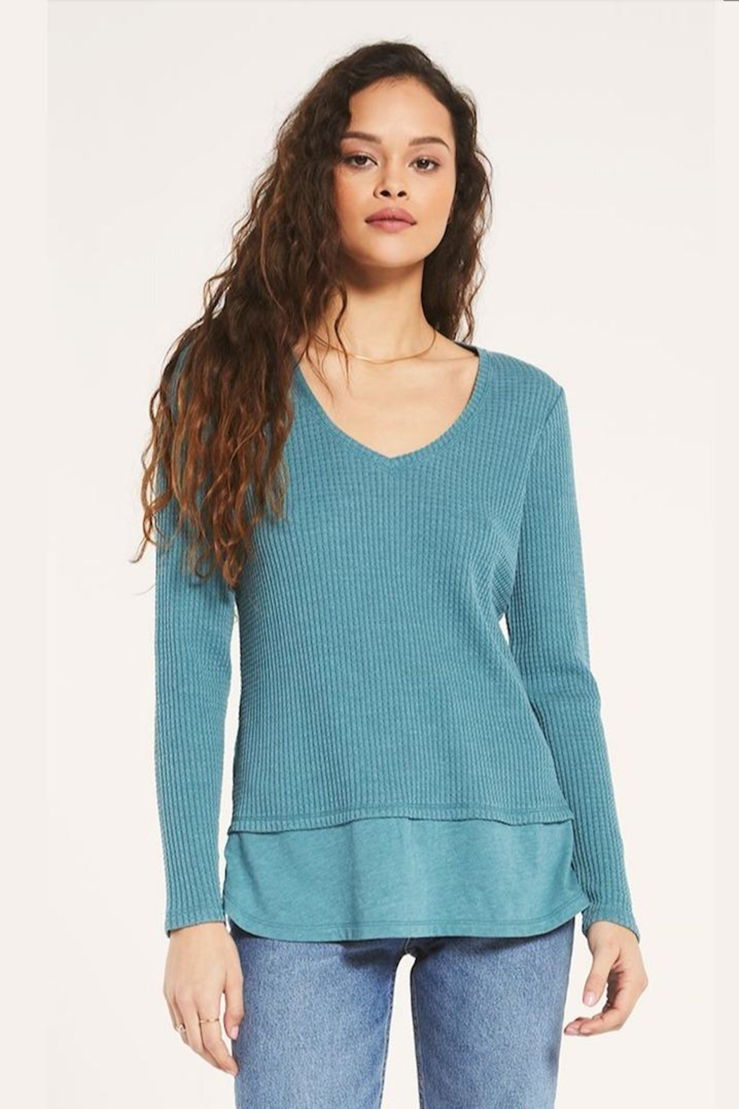 z supply V-Neck Thermal Tunic - Side Cropped Image