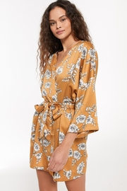 z supply Vacay Floral Satin Robe - Product Mini Image