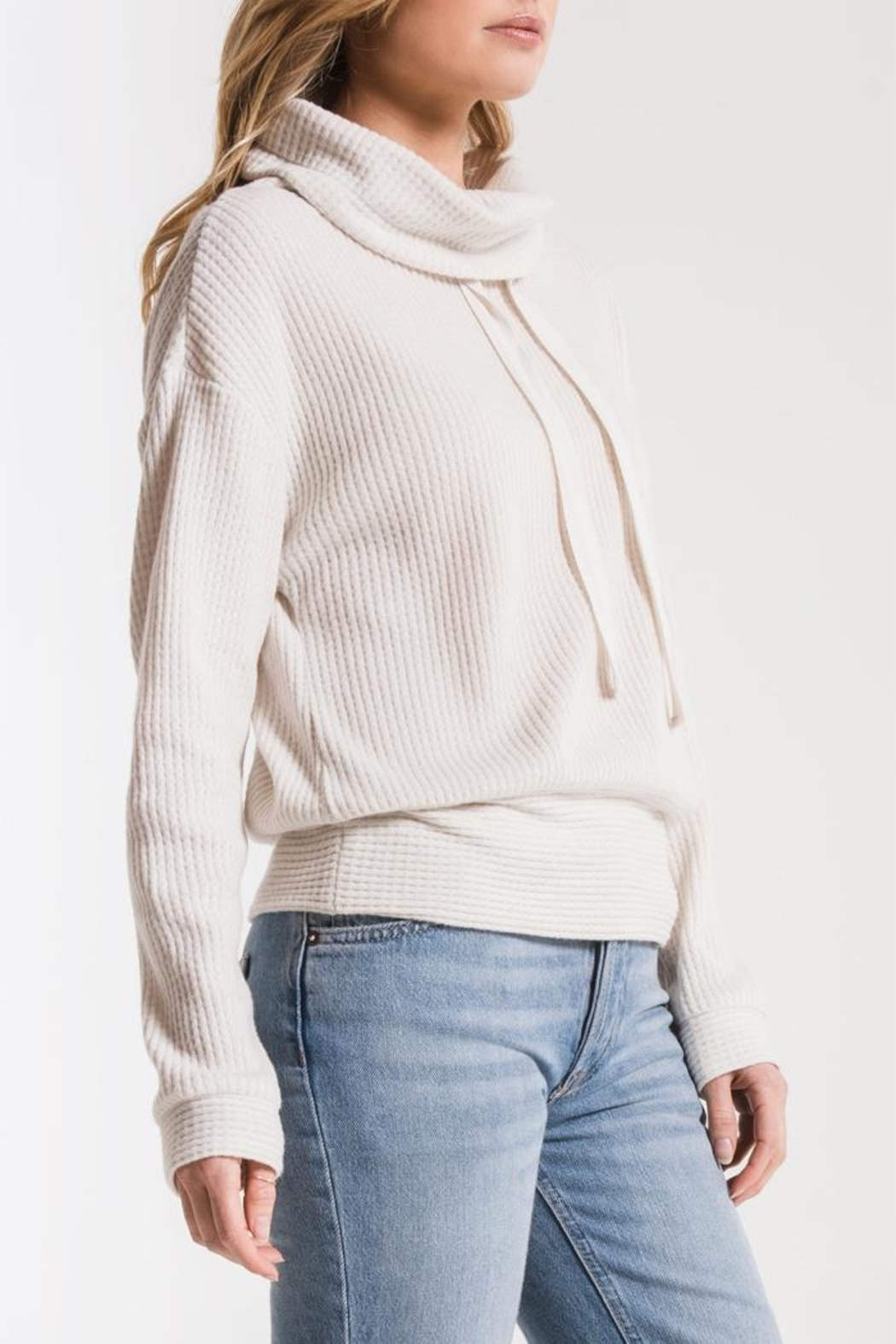 z supply Waffle Thermal Top - Front Full Image