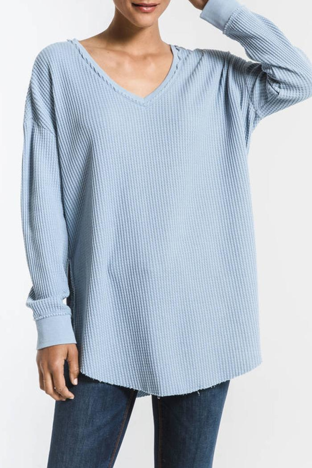 z supply Waffle Thermal Tunic - Front Cropped Image