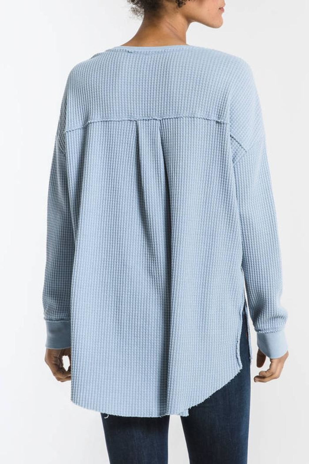 z supply Waffle Thermal Tunic - Side Cropped Image