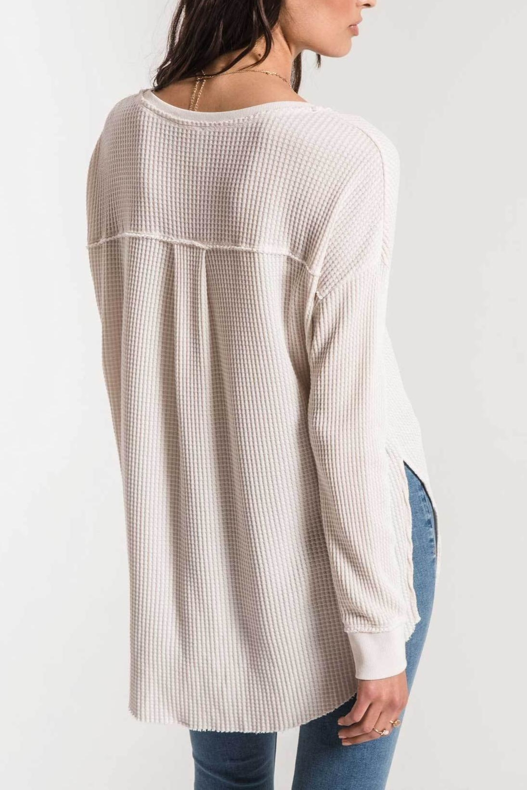 z supply Waffle Thermal Tunic - Front Full Image