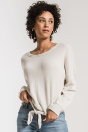 z supply Waffle Tie-Front Top - Front cropped