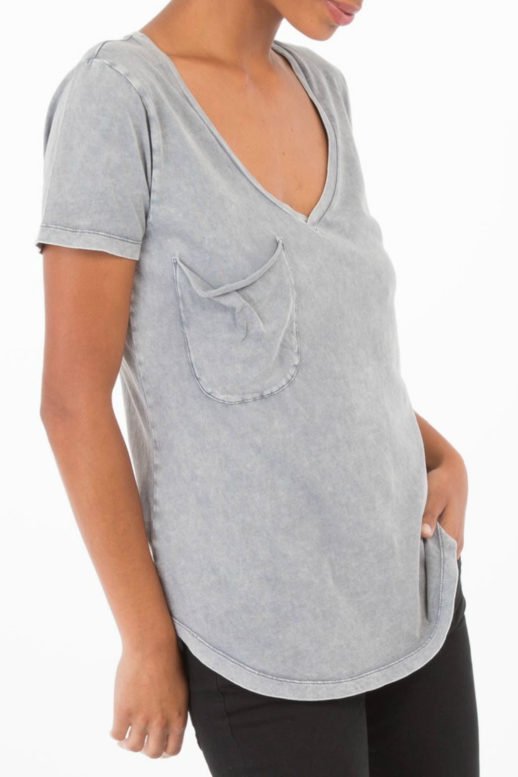 z supply Washed Pocket Tee - Front Full Image