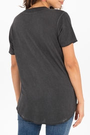 z supply Washed V-Neck Tee - Front full body