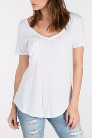 z supply White Pocket Tee - Front cropped