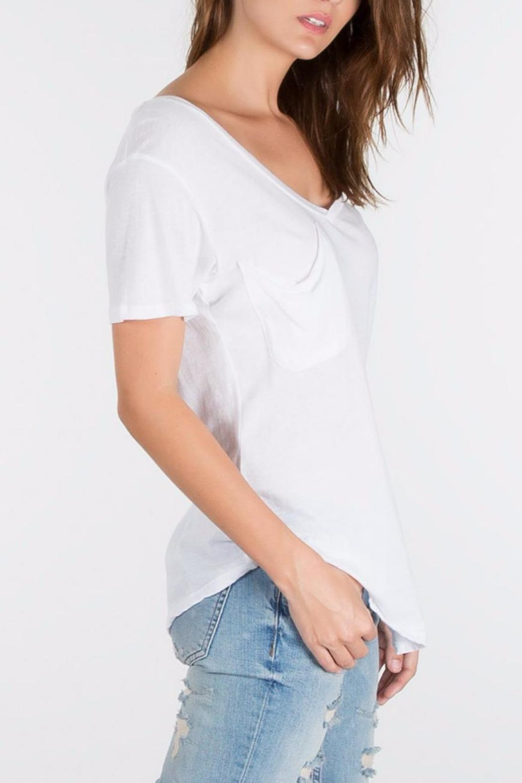 z supply White Pocket Tee - Side Cropped Image