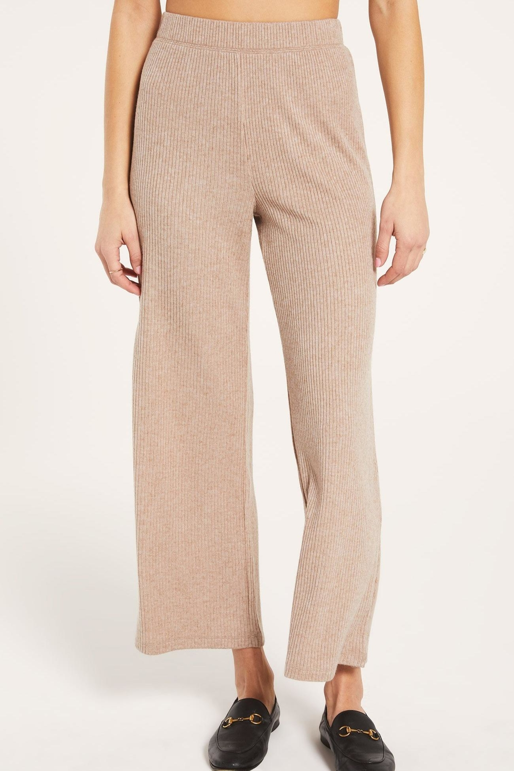 z supply Wide-Leg Ribbed Pant - Main Image