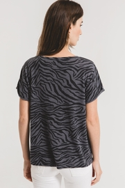 z supply Zebra Scoop Neck Tee-Ombre Blue - Back cropped