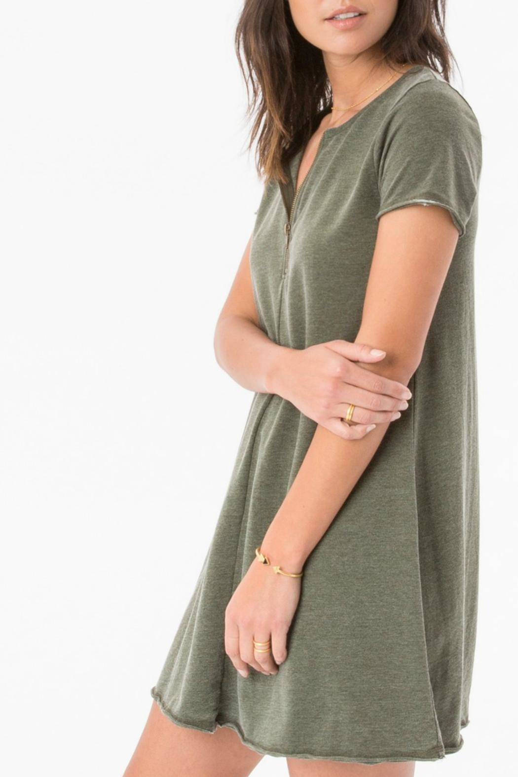 z supply Zip Swing Dress - Side Cropped Image