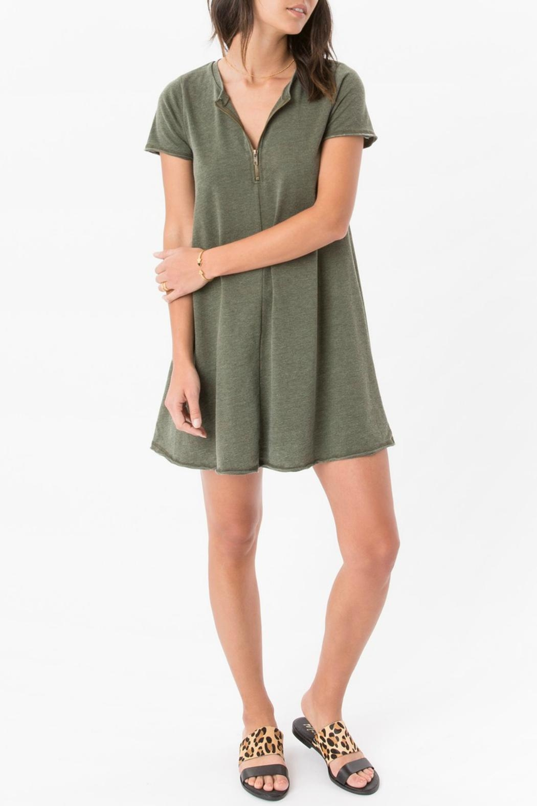 z supply Zip Swing Dress - Back Cropped Image