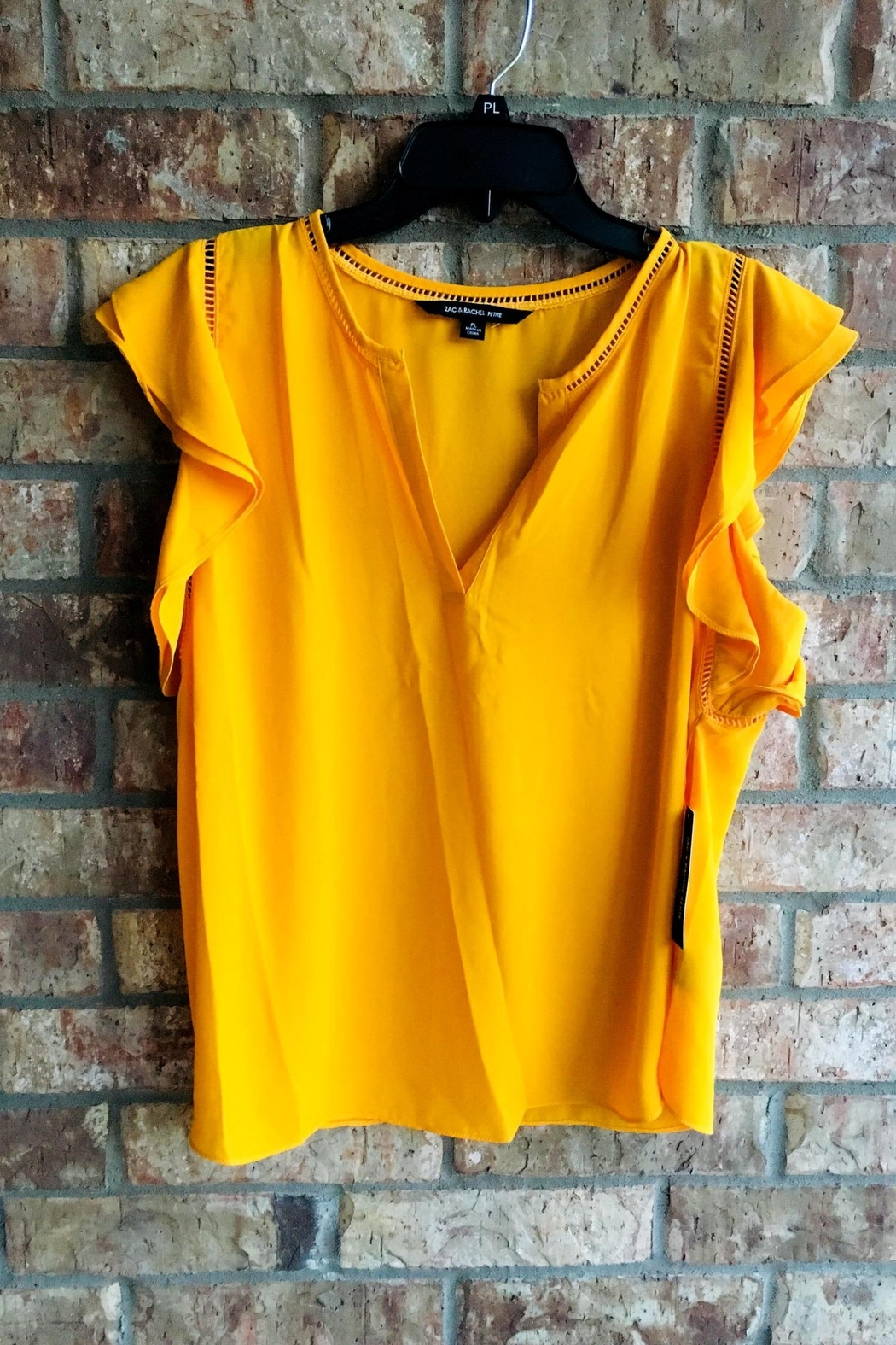 Zac & Rachel Yellow Business-Casual Top - Front Cropped Image