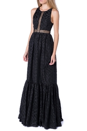 ZAC Zac Posen Brocade Black Gown - Product Mini Image