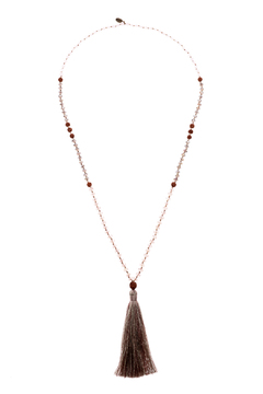 Shoptiques Product: Grey Gantry Seed Necklace
