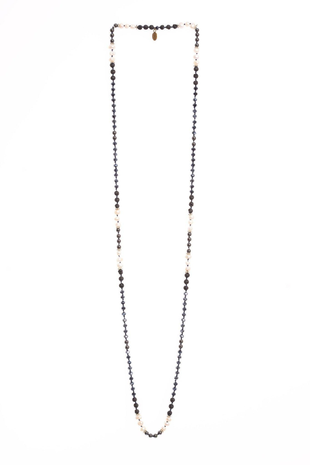 Zacasha Hematite/pearl Layering Necklace - Front Cropped Image