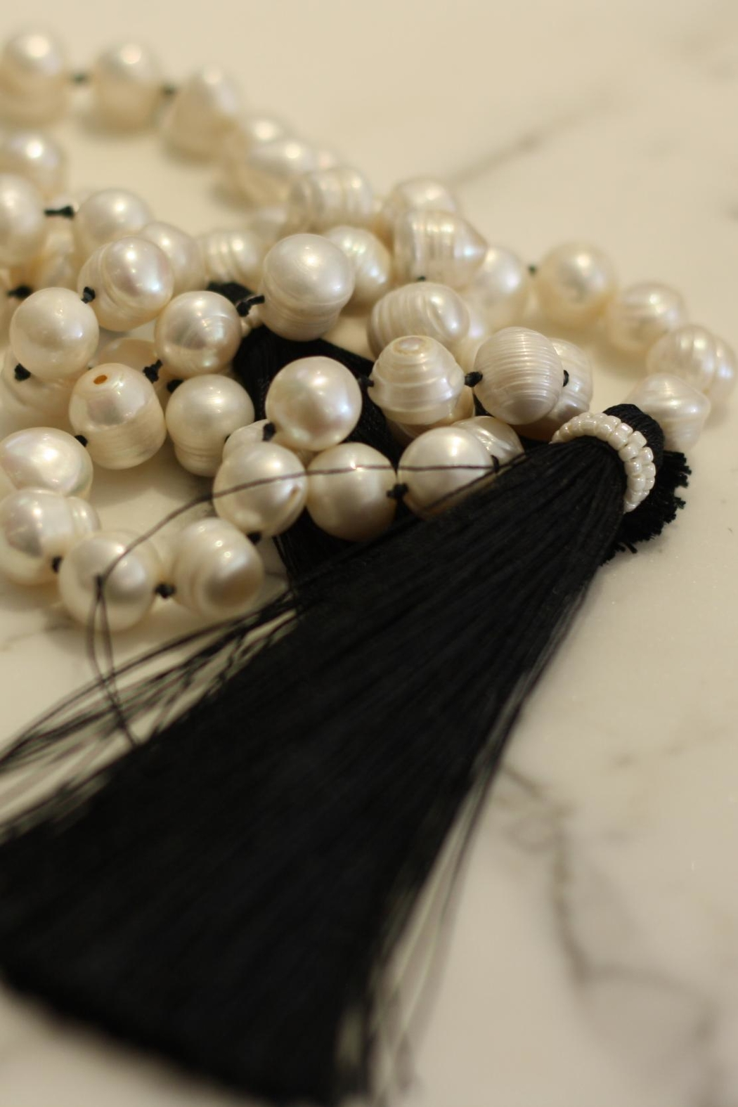 Zacasha Long Pearl Necklace - Main Image