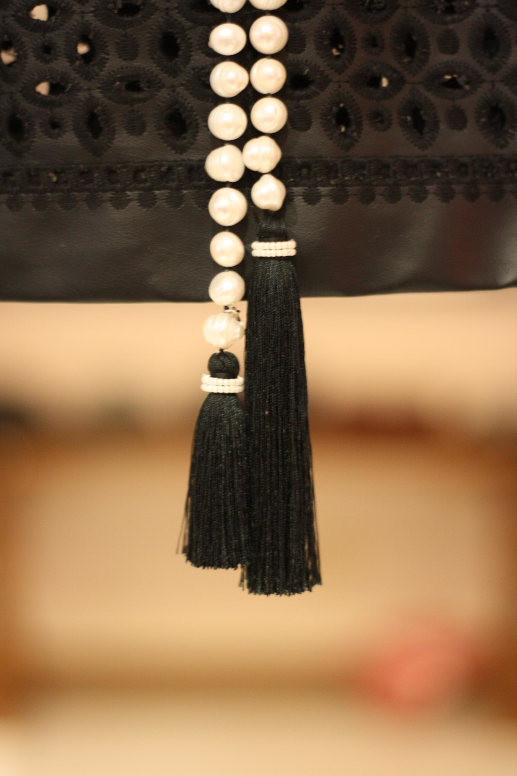 Zacasha Long Pearl Necklace - Front Full Image