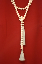 Zacasha Long Pearl Necklace - Front cropped