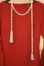 Zacasha Long Pearl Necklace - Front full body