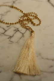Zacasha Small-Bead Tassel Necklace - Product Mini Image