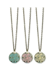 ZAD Gold-Enamel Sand-Dollar Locket-Necklace - Product Mini Image