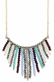 ZAD Gold-Facet-Bead Bib Necklace - Product Mini Image