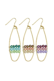 ZAD Gold Wire-Bead Oval-Earrings - Product Mini Image
