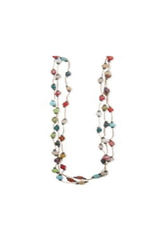 ZAD Mosaic Square-Bead Thread-Necklace - Product Mini Image