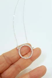 ZAD Open Circle Necklace - Front full body