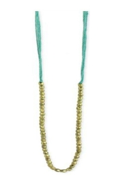 ZAD Pastel-Thread Gold-Bead Long-Necklace - Product Mini Image