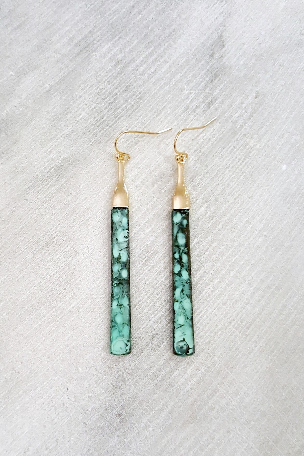 ZAD Patina Bar Earrings - Front Cropped Image