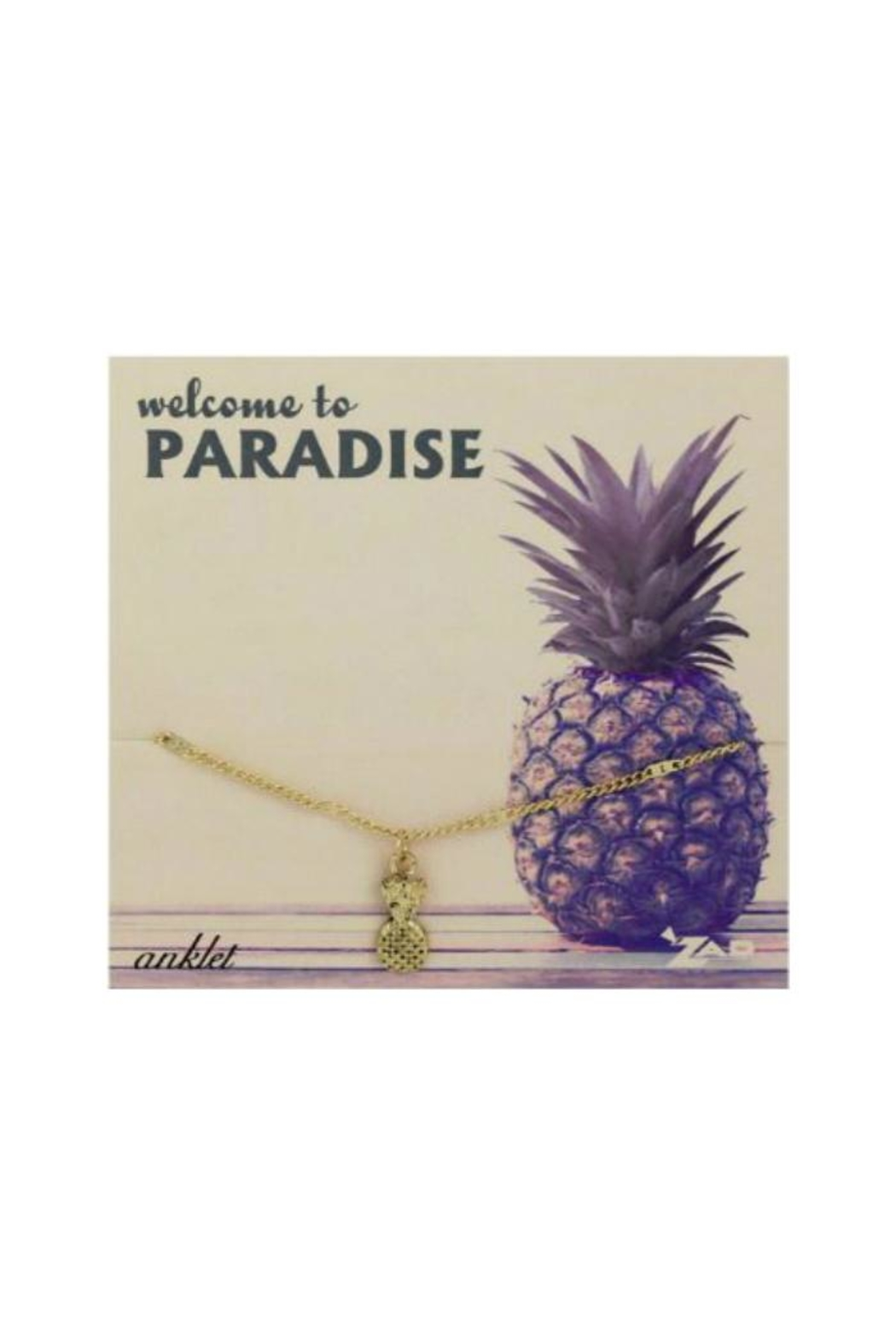 ZAD Pineapple Charm Anklet - Main Image