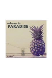 ZAD Pineapple Charm Anklet - Front cropped