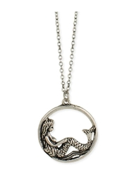 ZAD Silver Mermaid-Pendant Necklace - Product Mini Image