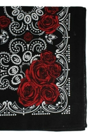 ZAD Vintage Rose Bandana - Front full body