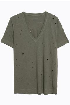 Zadig & Voltaire Wassa Distressed V-Neck - Product List Image