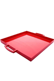 Zak Designs Square Melamine Tray - Front cropped