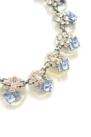 Zana West Blue Crystals Necklace - Front full body