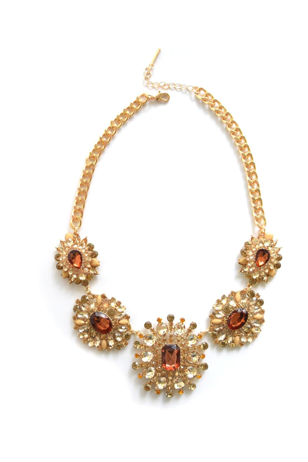 Zana West Crystal Statement Necklace - Main Image